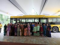 Children from Yayasan Kebajikan Anak-anak Yatim Al-Husna arriving at the resort lobby